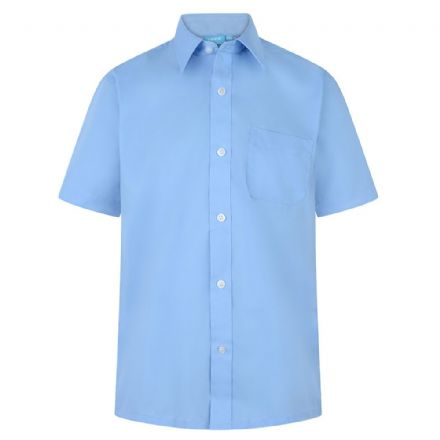 Boys Blue Short Sleeve Shirt - Twin Pack